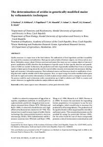 The determination of avidin in genetically modified maize by ...