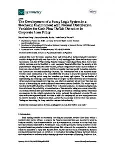 The Development of a Fuzzy Logic System in a Stochastic ...www.researchgate.net › publication › fulltext › The-Devel