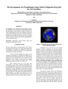 The Development of a Propellantless Space Debris Mitigation Drag ...