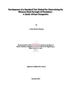 The Development of a Standard Test Method for ...