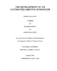 the development of an automated meeting scheduler
