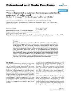 The development of an automated sentence generator for the ...