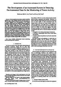 The Development of an Automated System in Detecting Environmental ...