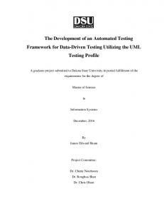 The Development of an Automated Testing ...