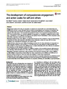 The development of compassionate engagement