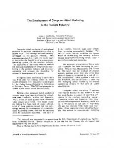 The Development of Computer Aided Marketing In ... - AgEcon Search