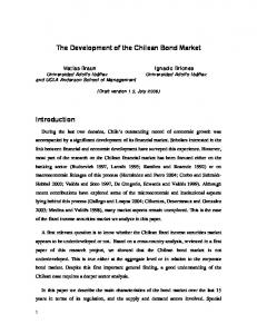 The Development of the Chilean Bond Market Introduction