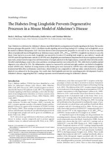 The Diabetes Drug Liraglutide Prevents ... - Semantic Scholar