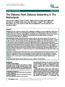 The Diabetes Pearl: Diabetes biobanking in The Netherlands