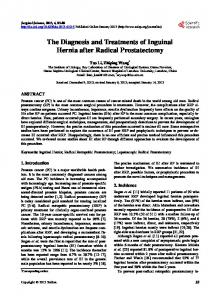 The Diagnosis and Treatments of Inguinal Hernia ... - Semantic Scholar