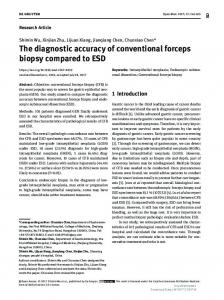 The diagnostic accuracy of conventional forceps ...