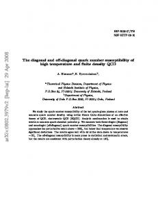 The diagonal and off-diagonal quark number susceptibility of high ...