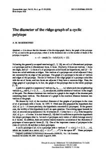 The diameter of the ridge-graph of a cyclic polytope