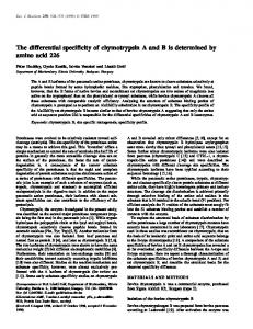 The differential specificity of chymotrypsin A and ... - Wiley Online Library
