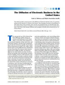 The Diffusion of Electronic Business in the United ... - Semantic Scholar