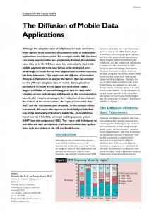 The Diffusion of Mobile Data Applications - CiteSeerX
