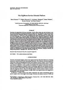 The DigiHome ServiceOriented Platform - Semantic Scholar