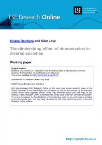 The diminishing effect of democracies in diverse societies