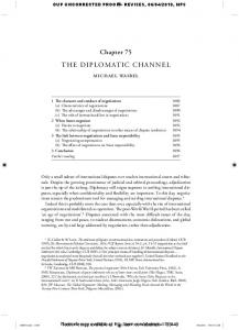 the diplomatic channel - papers in the SSRN
