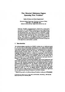 The Directed Minimum-Degree Spanning Tree Problem - Springer Link