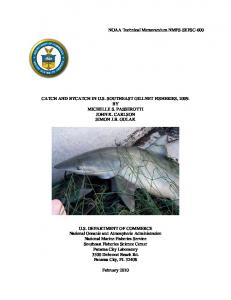 The Directed Shark Gillnet Fishery - Southeast Fisheries Science Center