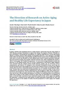The Direction of Research on Active Aging and