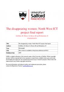 The Disappearing Women - University of Salford Institutional ...