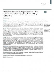 The Disaster Preparedness Program - The Lancet