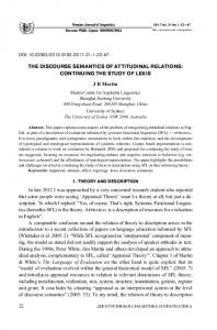 THE DISCOURSE SEMANTICS OF ATTITUDINAL RELATIONS