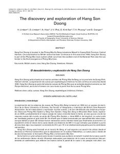 The discovery and exploration of Hang Son Doong - IGME