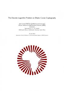 The Discrete Logarithm Problem on Elliptic Curves