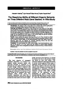 The Dissolving Ability of Different Organic Solvents