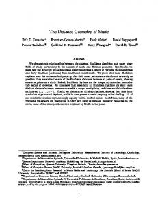 The Distance Geometry of Music - Erik Demaine