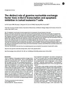 The distinct role of guanine nucleotide exchange factor ... - CiteSeerX