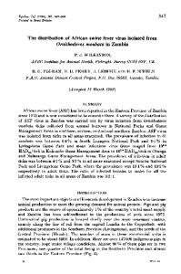 The distribution of African swine fever virus isolated from ... - NCBI