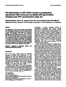 The distribution of ATP within tomato - Core