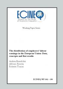 The distribution of employees' labour earnings in the European Union ...