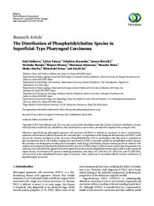 The Distribution of Phosphatidylcholine Species in Superficial-Type