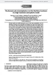 The diurnal cycle of precipitation over the Maritime Continent in ... - Core