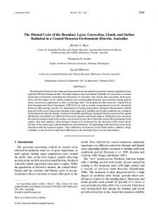 The Diurnal Cycle of the Boundary Layer, Convection, Clouds, and ...