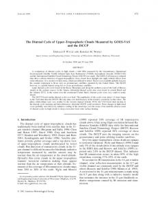 The Diurnal Cycle of Upper-Tropospheric Clouds Measured by GOES ...