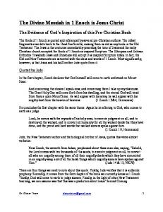 The Divine Messiah in 1 Enoch is Jesus Christ