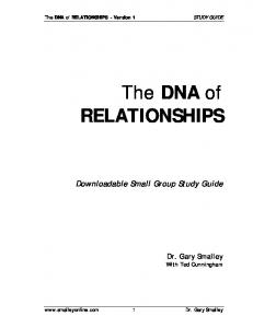 The DNA of RELATIONSHIPS - Smalley
