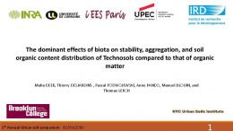 The dominant effects of biota on stability, aggregation ...