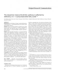 The dopamine mesocorticolimbic pathway is affected by deficiency in ...