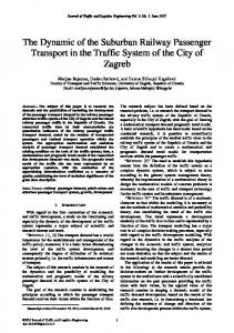 The Dynamic of the Suburban Railway Passenger Transport in the ...