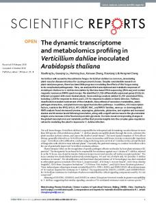 The dynamic transcriptome and metabolomics