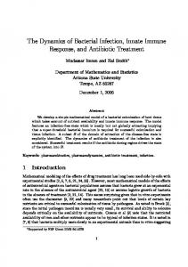 The Dynamics of Bacterial Infection, Innate Immune Response, and ...