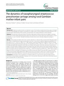 The dynamics of nasopharyngeal streptococcus ... - BioMedSearch