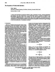 The Dynamics of Preferential Solvation